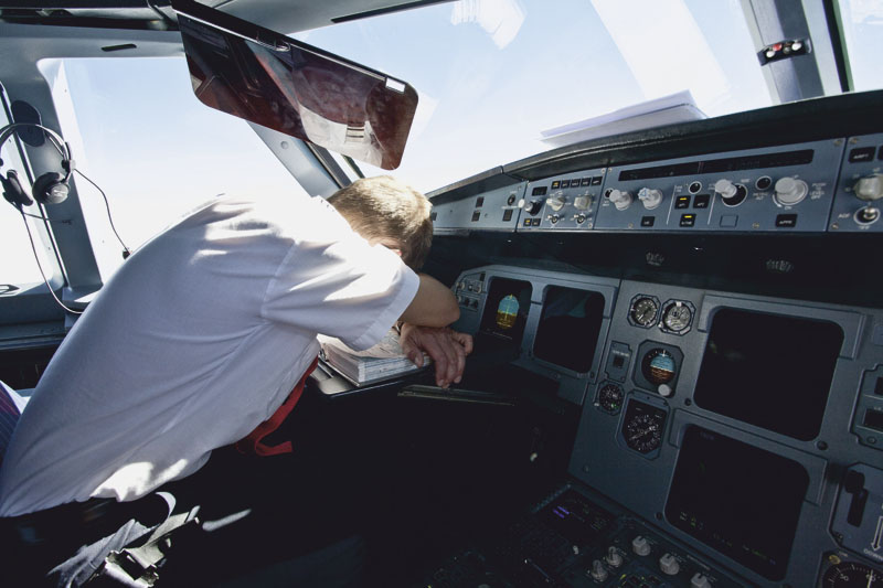 pilot sleeping